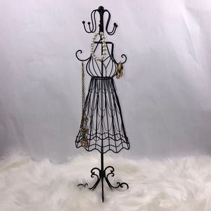 Metal Dress Form Jewelry Holder